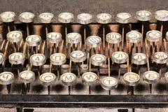 Teclado de máquina de escrever do vintage Fotos de Stock