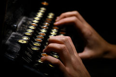 Teclado de máquina de escrever do vintage Fotografia de Stock Royalty Free