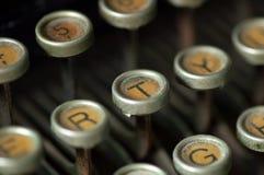 Teclado de máquina de escrever velho Imagem de Stock Royalty Free