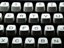 Teclado de máquina de escribir Imágenes de archivo libres de regalías