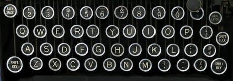 Teclado de máquina de escribir viejo Imagen de archivo libre de regalías