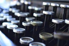 Teclado de máquina de escribir viejo imágenes de archivo libres de regalías
