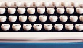 Teclado de máquina de escribir Fotografía de archivo