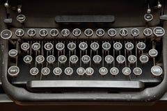 Teclado de máquina de escribir Imagen de archivo libre de regalías