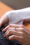 Teclado de ordenador Imagen de archivo libre de regalías