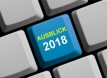 Teclado de ordenador: Alemán del pronóstico 2018 Imagen de archivo libre de regalías