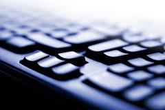 Teclado de ordenador azul Fotografía de archivo libre de regalías