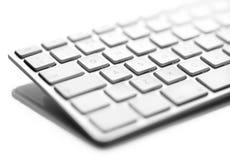 Teclado de ordenador blanco Fotografía de archivo