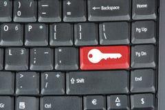 Teclado de ordenador con clave rojo Foto de archivo