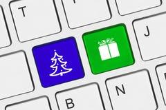 Teclado de ordenador con claves de la Navidad Imagen de archivo