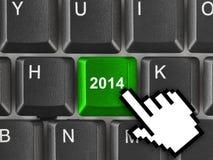 Teclado de ordenador con la llave 2014 Imagen de archivo