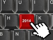Teclado de ordenador con la llave 2014 Imágenes de archivo libres de regalías