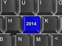 Teclado de ordenador con la llave 2014 Fotografía de archivo libre de regalías