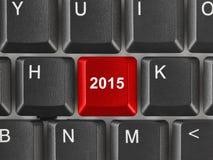 Teclado de ordenador con la llave 2015 Foto de archivo