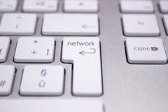 Teclado de ordenador con la palabra referente a la red Imagen de archivo libre de regalías