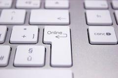 Teclado de ordenador con la palabra referente a la red Foto de archivo libre de regalías