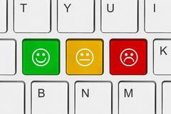 Teclado de ordenador con llaves de la sonrisa Foto de archivo libre de regalías