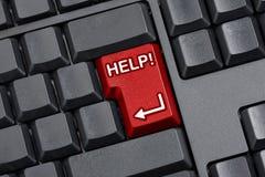 Teclado de ordenador de la llave de ayuda Imagen de archivo