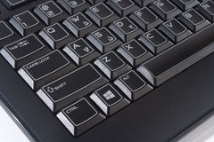 Teclado de ordenador negro Fotografía de archivo libre de regalías
