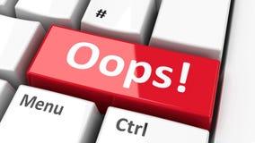 ¡Teclado de ordenador Oops! Fotografía de archivo libre de regalías