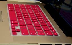 Teclado de ordenador rosado Fotografía de archivo