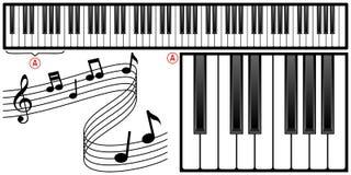 Teclado de piano ilustración del vector