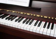 Teclado de piano Imagen de archivo libre de regalías