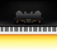 Teclado de piano Fotografia de Stock