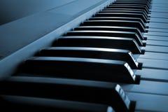 Teclado de piano imagens de stock