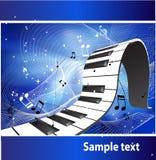 Teclado de piano abstracto stock de ilustración