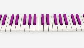 Teclado de piano cor-de-rosa rendido ilustração royalty free