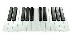 teclado de piano 3D Fotos de Stock Royalty Free