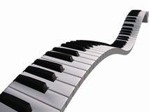 Teclado de piano de flutuação Imagens de Stock