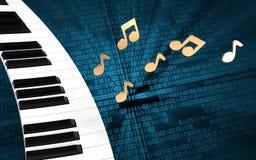 teclado de piano del teclado de piano 3d Imágenes de archivo libres de regalías