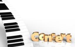 teclado de piano del teclado de piano 3d Fotografía de archivo libre de regalías