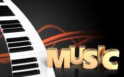 teclado de piano del espacio en blanco 3d Fotos de archivo