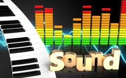teclado de piano do teclado de piano 3d ilustração royalty free