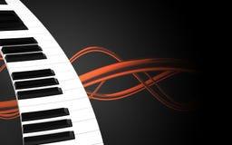 teclado de piano do teclado de piano 3d Fotos de Stock