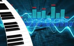 teclado de piano do espectro 3d Imagem de Stock Royalty Free