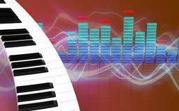 teclado de piano do espectro 3d Fotos de Stock Royalty Free