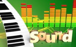 teclado de piano do sinal 'do som 3d' Imagens de Stock