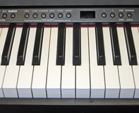 Teclado de piano electrónico Imagen de archivo libre de regalías