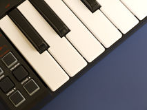 Teclado de piano eletrônico Imagens de Stock