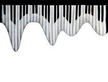 Teclado de piano en el fondo blanco ilustración del vector