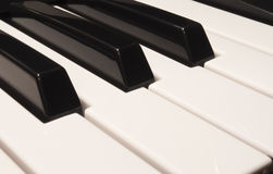 Teclado de piano grande Foto de Stock