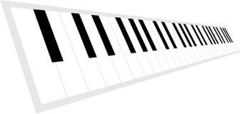 Teclado de piano na perspectiva Fotos de Stock