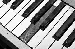 Teclado de piano quebrado Imagens de Stock Royalty Free