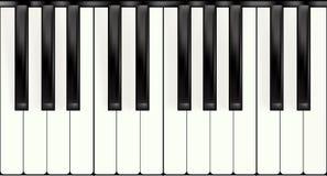 Teclado de piano sem emenda Foto de Stock Royalty Free