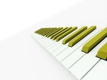 Teclado de piano verde rendido Fotos de archivo libres de regalías