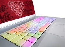 Teclado de San Valentin Fotos de Stock